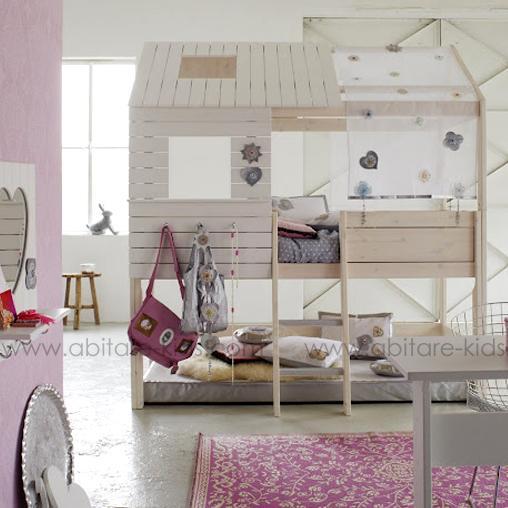 lit cabane fille de la marque life time abitare kids. Black Bedroom Furniture Sets. Home Design Ideas