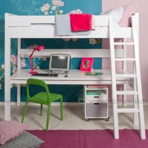 Chambre enfant : lit mezzanine avec bureau