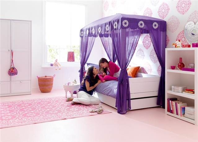 lit a baldaquin life time abitare kids. Black Bedroom Furniture Sets. Home Design Ideas
