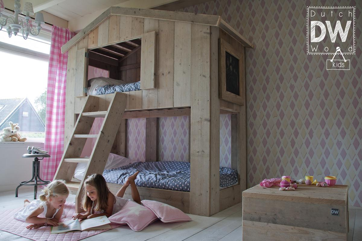 lit cabane enfant de la marque dutchwood abitare kids. Black Bedroom Furniture Sets. Home Design Ideas