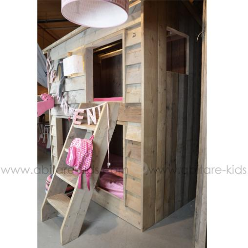 lit cabane superpos pour enfant dutchwood. Black Bedroom Furniture Sets. Home Design Ideas