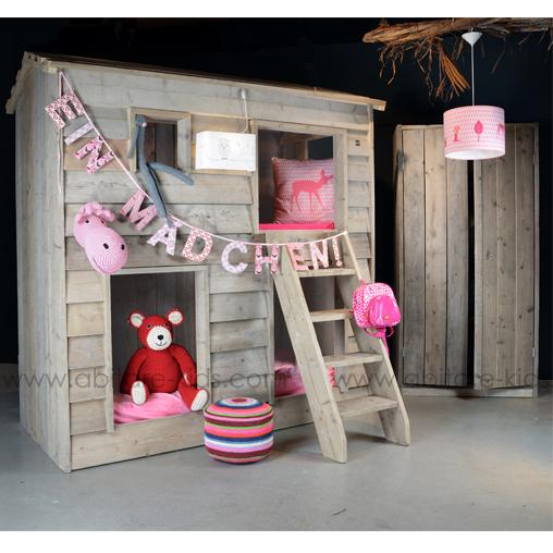 lit cabane superpos pour enfant dutchwood abitare kids. Black Bedroom Furniture Sets. Home Design Ideas
