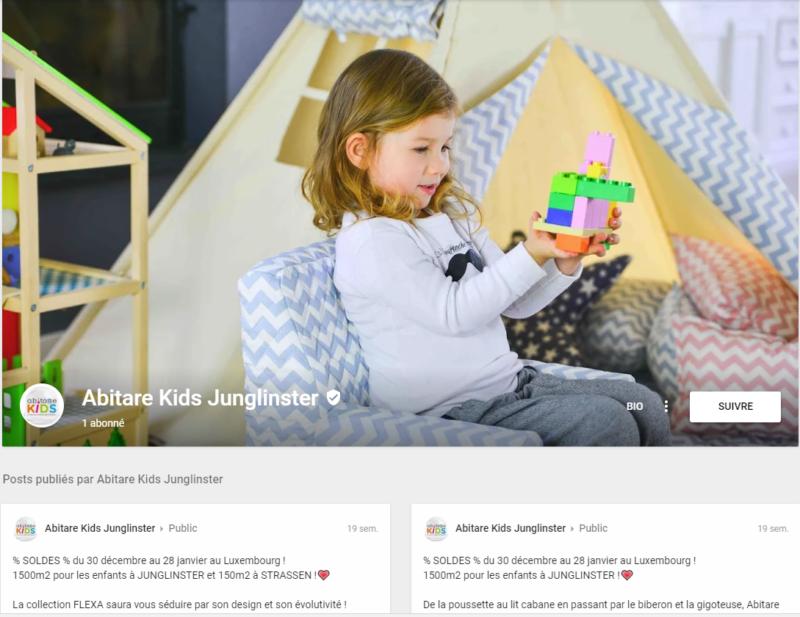 réseaux sociaux google abitare kids