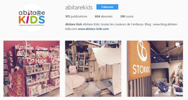 Réseaux sociaux Instagram Abitare Kids