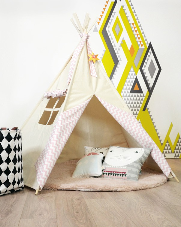 Tipi enfant rose Abitare Kids