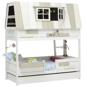 le lit cabane hang out blanc laque par lifetime abitare kids