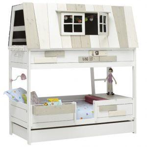 le lit cabane hang out blanc laque par lifetime abitare kids