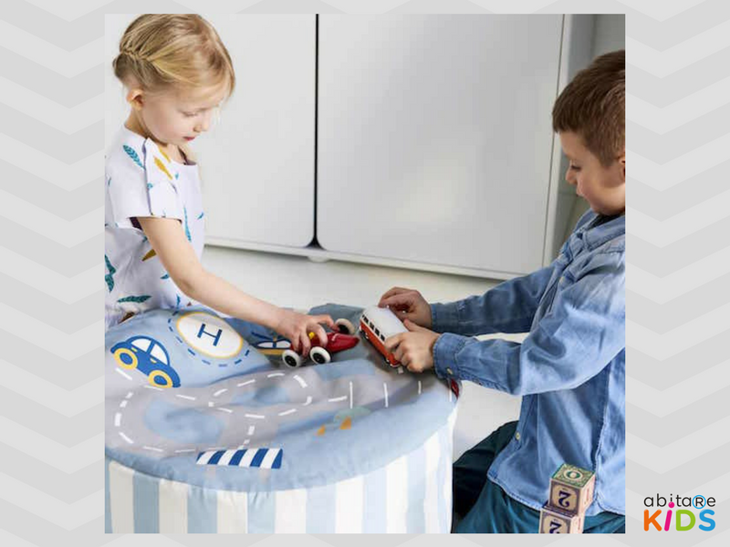 pouf enfant transport flexa abitare kids