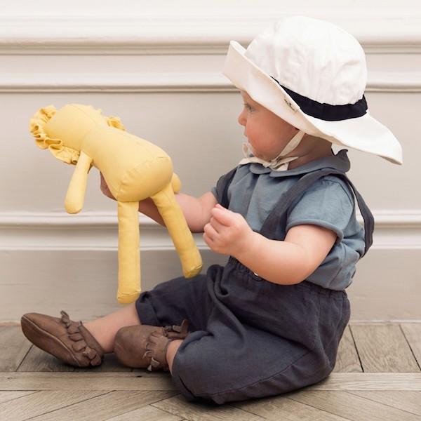chapeau elodie details bebe 0 6 mois blanc abitare kids