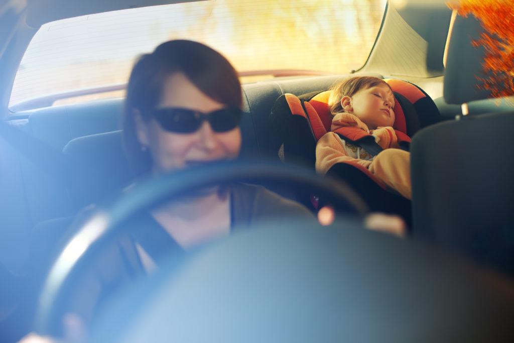 rouler pour endormir bébé