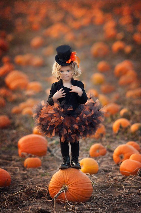 Deguisement halloween enfant citrouille