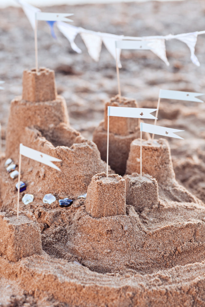 chateau de sable décoration