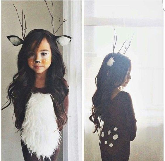 deguisement halloween enfant biche