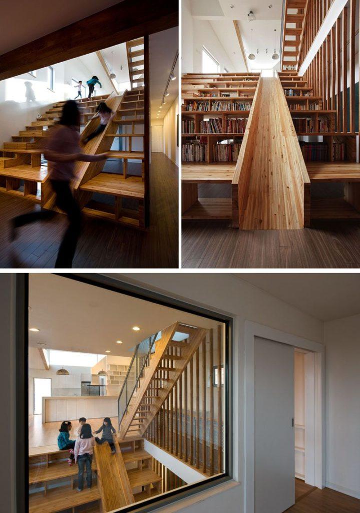 escalier-bibliothèque-toboggan-interieur-enfants