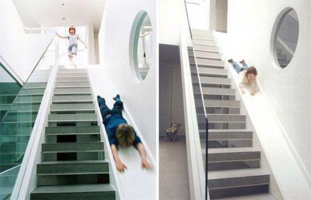escalier toboggan enfant