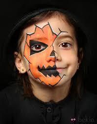 maquillage enfant citrouille garçon