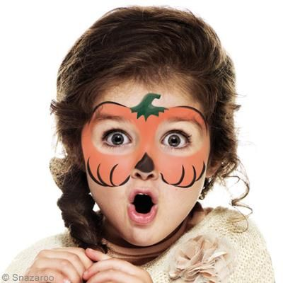 maquillage enfant halloween citrouille