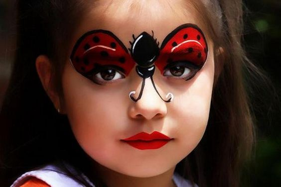 maquillage enfant halloween coccinelle
