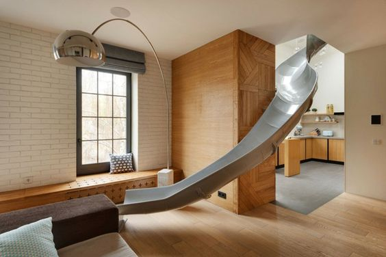 toboggan interieur salon design