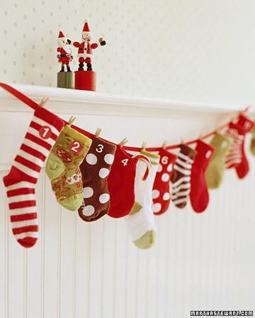 calendrier avent enfant DIY chaussettes
