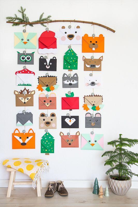calendrier avent enfant DIY origami