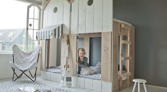 chambre partagée lit cabane dutchwood