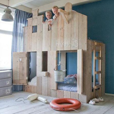 chambre partagée lit dutchwood