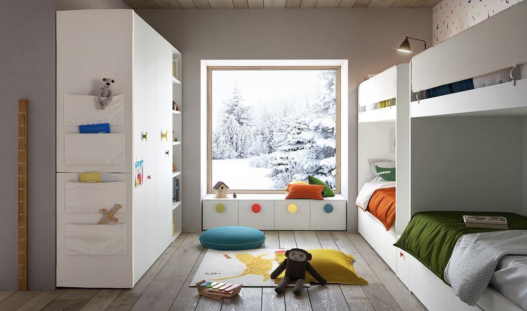 chambre partagée lit superposé enfant