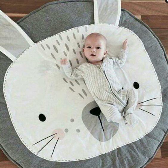 tapis de jeux enfants bébé lapin