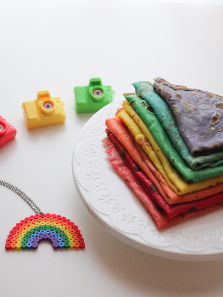 chandeleur rainbow crepes