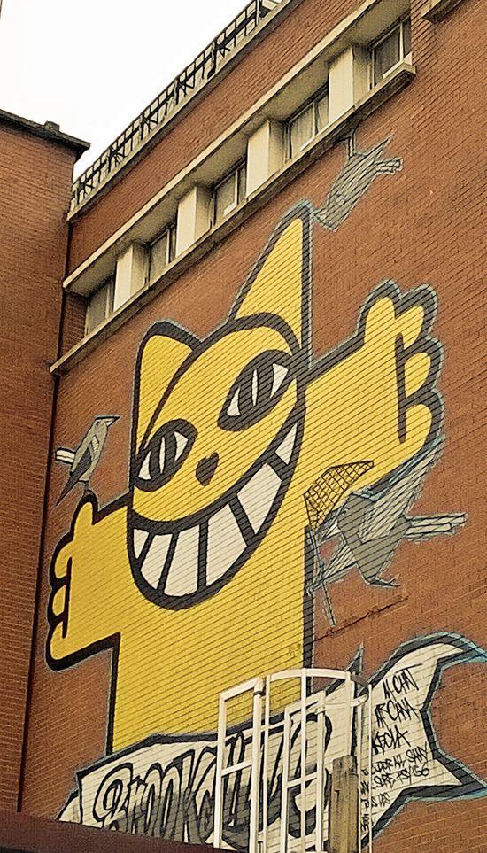 street art enfant M Chat