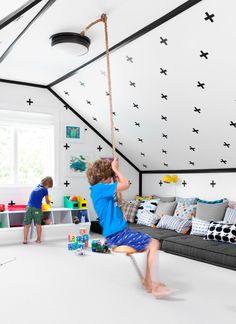 balançoire chambre enfant aire de jeux