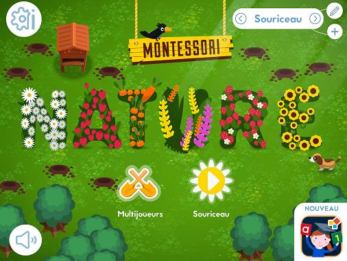 Montessori nature appli pour enfant