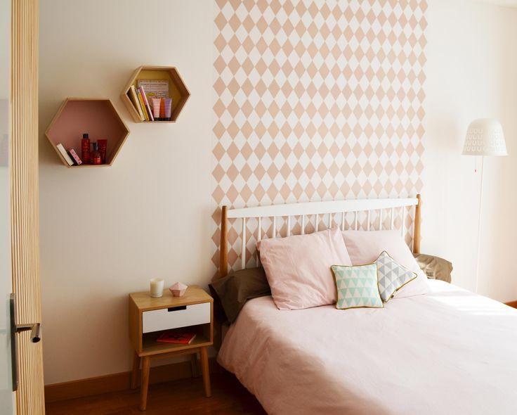 papier peint deco chambre tete de lit